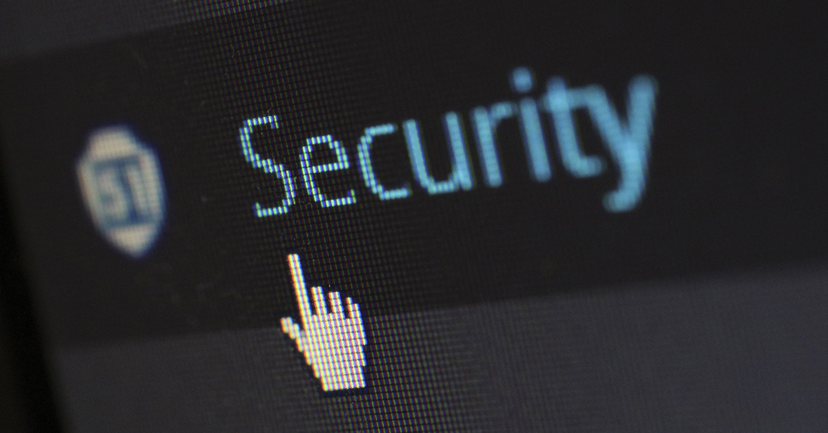 security on computer screen